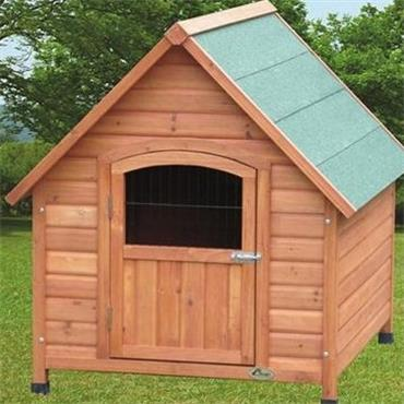 Wooden dog kennels apex kennel with door small horkans for Dog kennel clearance