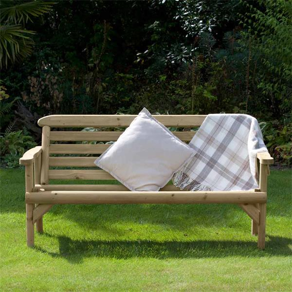 Holcombe Wooden Bench 5 Foot Horkans Garden Centre